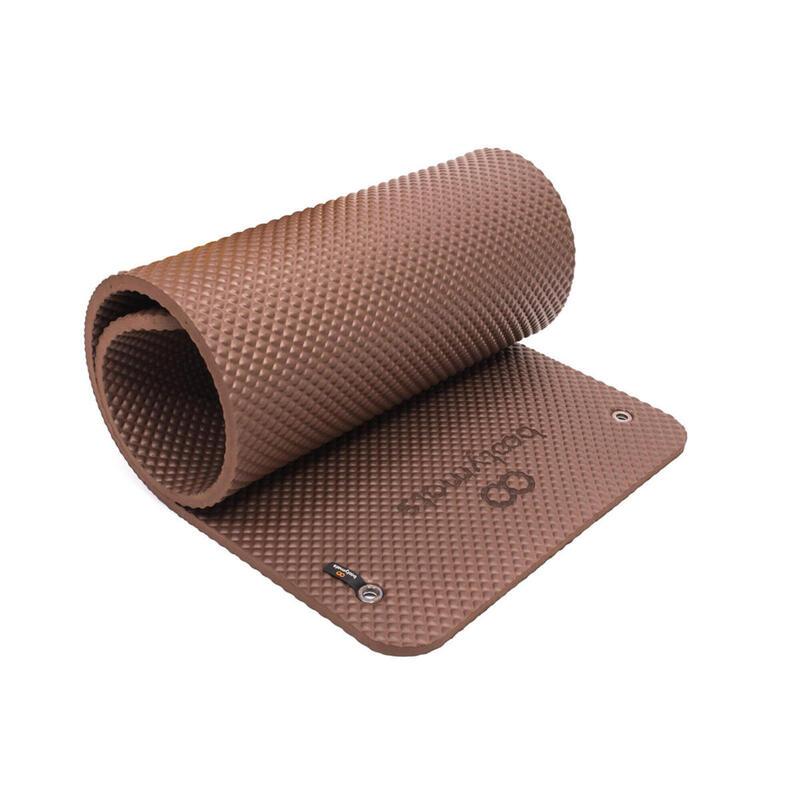 Esterilla extra acolchada de gran tamaño. Máximo confort. 180x60cm. Chocolate