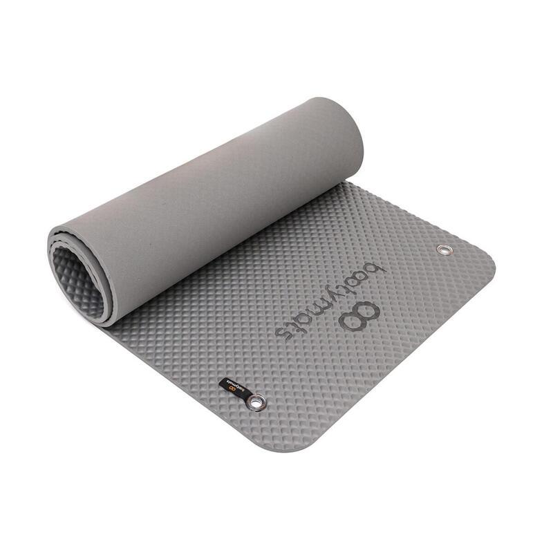 Esterilla de gran tamaño para ejercicios de Pilates de suelo. 180x60cm. Gris