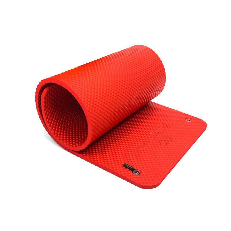 Esterilla extra acolchada de gran tamaño. Máximo confort. 180x60cm. Rojo