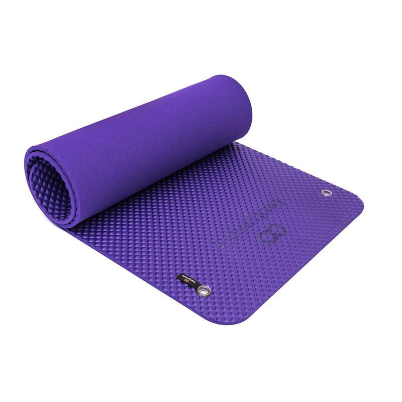Esterilla de gran tamaño para ejercicios de Pilates de suelo. 180x60cm. Violeta