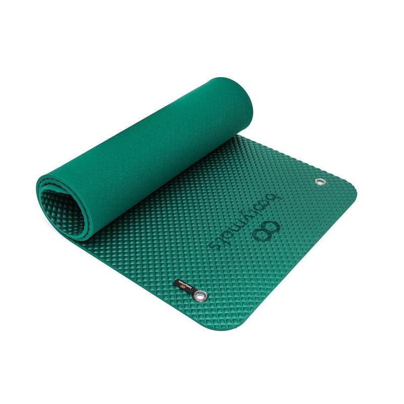 Esterilla de gran tamaño para ejercicios de Pilates de suelo. 180x60cm. Verde