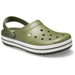 Crocband Clog (Unisex) Army Green/White