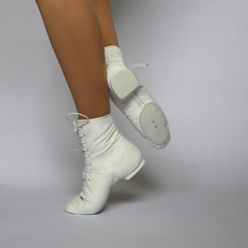 GALLA - Botas de baile de jazz de piel de vaca