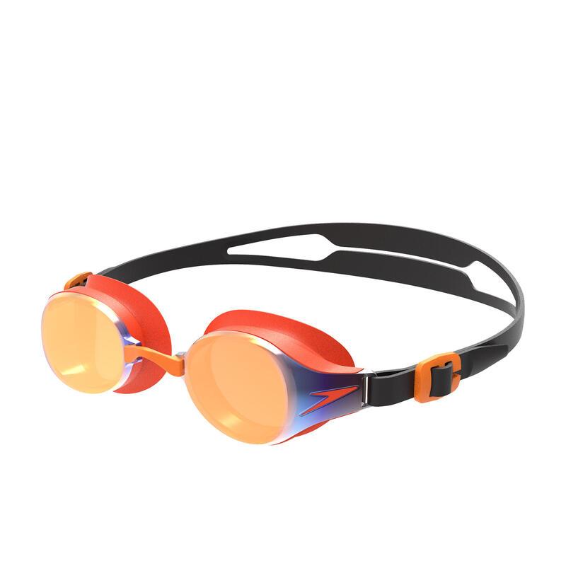 HYDROPURE 兒童 (6-14 歲) 鍍膜 泳鏡 黑 / 芒果橙 / 金