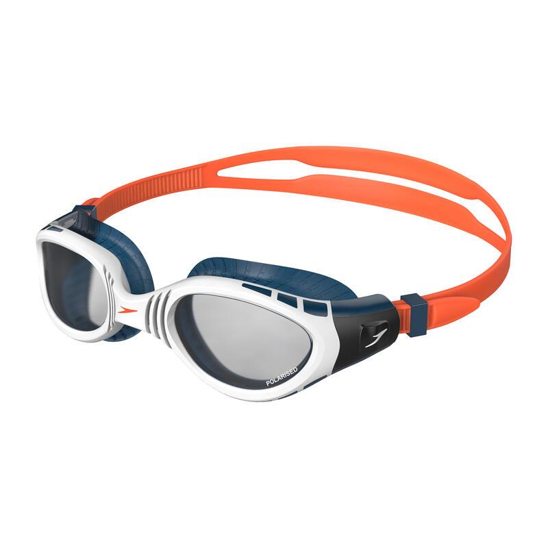 BIOFUSE FLEXISEAL 偏光 成人泳鏡 橙 / 煙灰