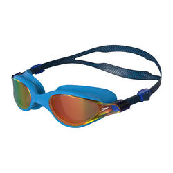V CLASS MIRROR GOGGLES (ASIA FIT) NAVY / POOL BLUE / FIRE GOLD