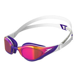 FASTSKIN PURE FOCUS MIRROR GOGGLES (ASIA FIT) WHITE / VIOLET / GOLD SHADOW