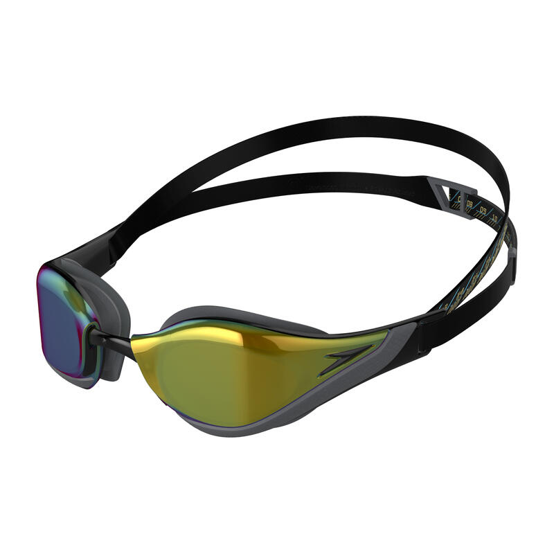 FASTSKIN PURE FOCUS MIRROR GOGGLES (ASIA FIT) BLACK / COOL GREY / OCEAN GOLD