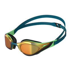 FASTSKIN PURE FOCUS MIRROR GOGGLES (ASIA FIT) NORDIC TEAL/GREEN GLOW/GOLD SHADOW