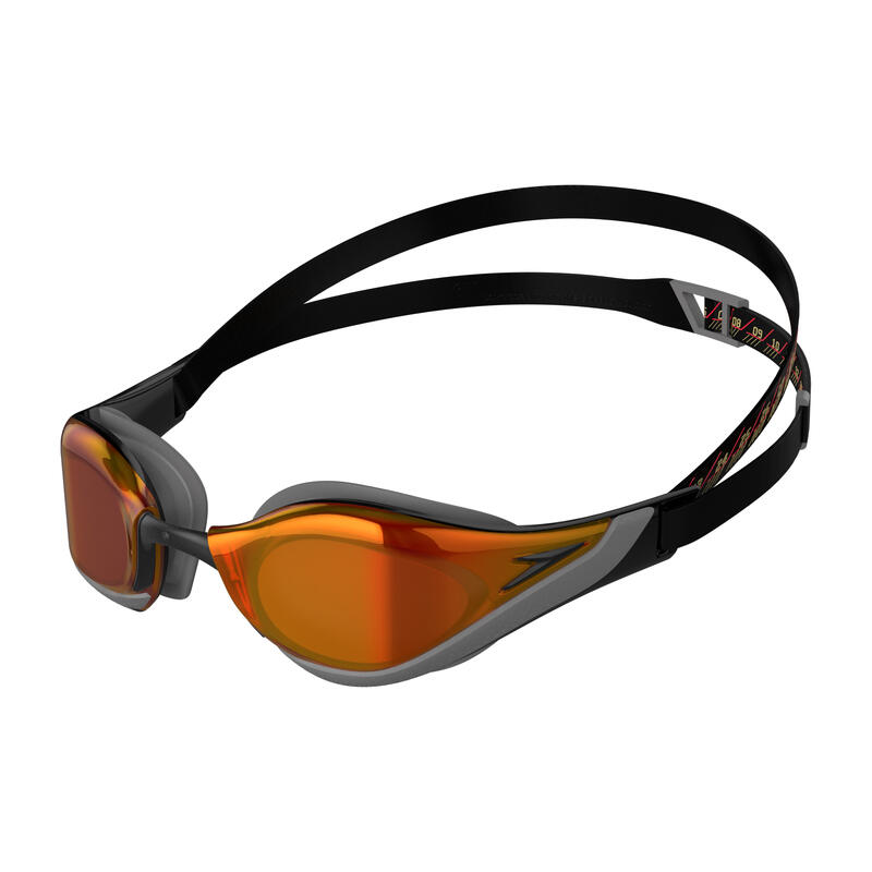 FASTSKIN PURE FOCUS MIRROR GOGGLES (ASIA FIT) BLACK / COOL GREY / FIRE GOLD