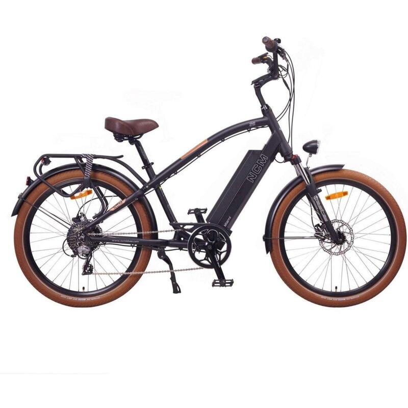 """Vélo Electrique Cruiser NCM Miami - 26"""", 250W, Batterie 48V 16Ah 768Wh"""