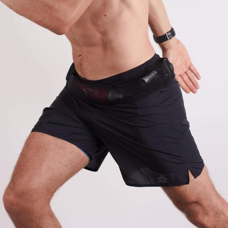 T8 男士黑色運動短褲