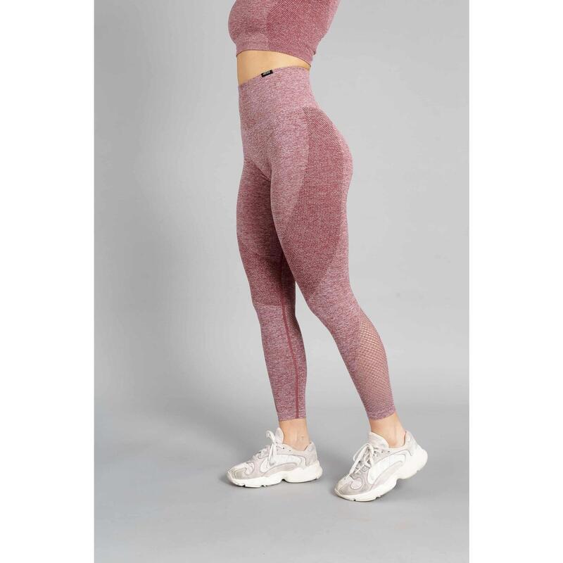 Pulse Seamless Legging Fitness - Femme - Rouge