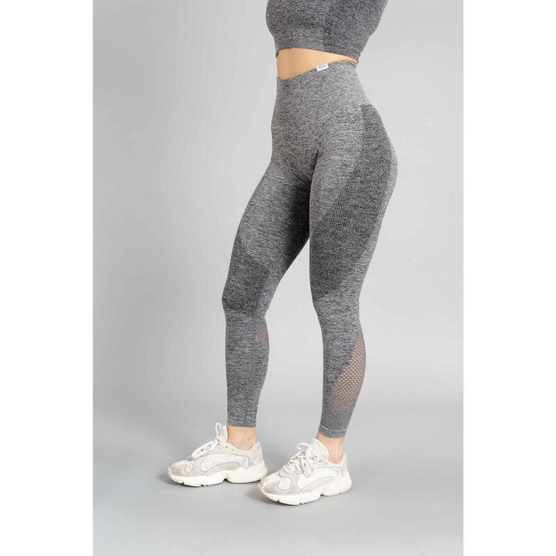Pulse Seamless Legging Fitness - Femme - Gris