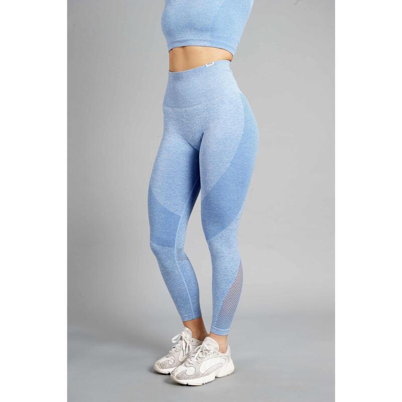 Pulse Seamless Legging Fitness - Femme - Bleu
