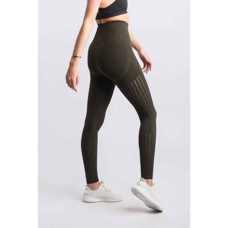 Motion Seamless Legging Fitness - Femme - Armée verte