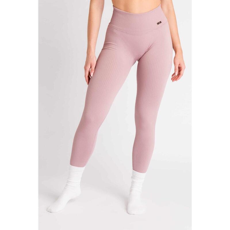 Ribbed Seamless Legging Fitness - Femme - Plum Rouge