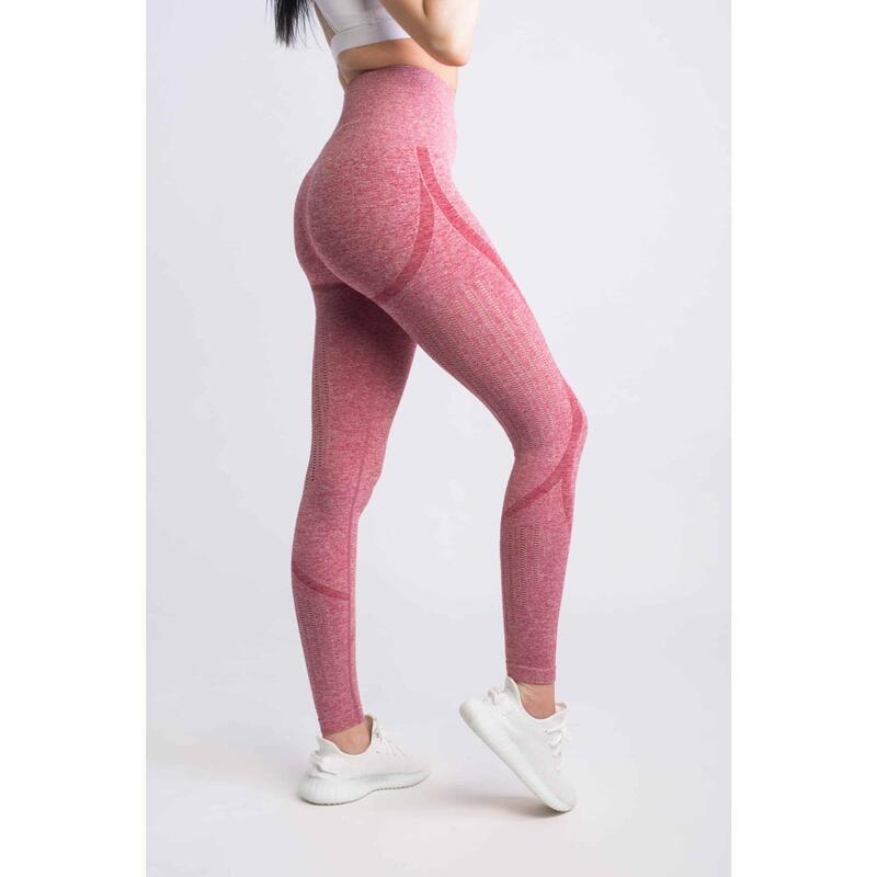 Motion Seamless Legging Fitness - Femme - Rouge