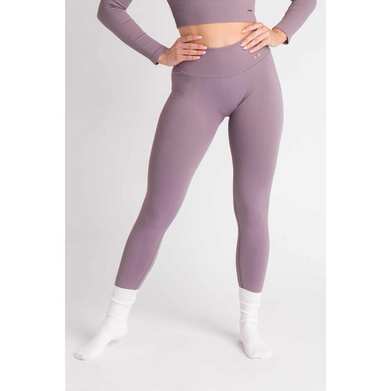 Ribbed Seamless Legging Fitness - Femme - Aster Violet