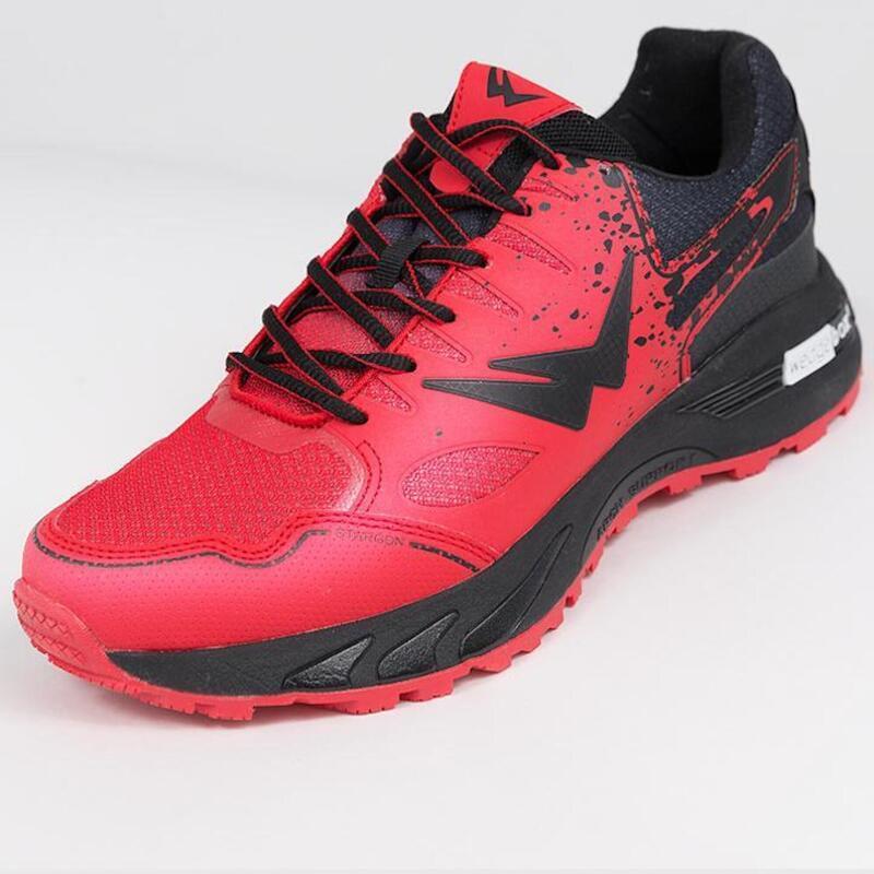 Chaussures de trail running homme Wizwedge Stargon Rouge Noir