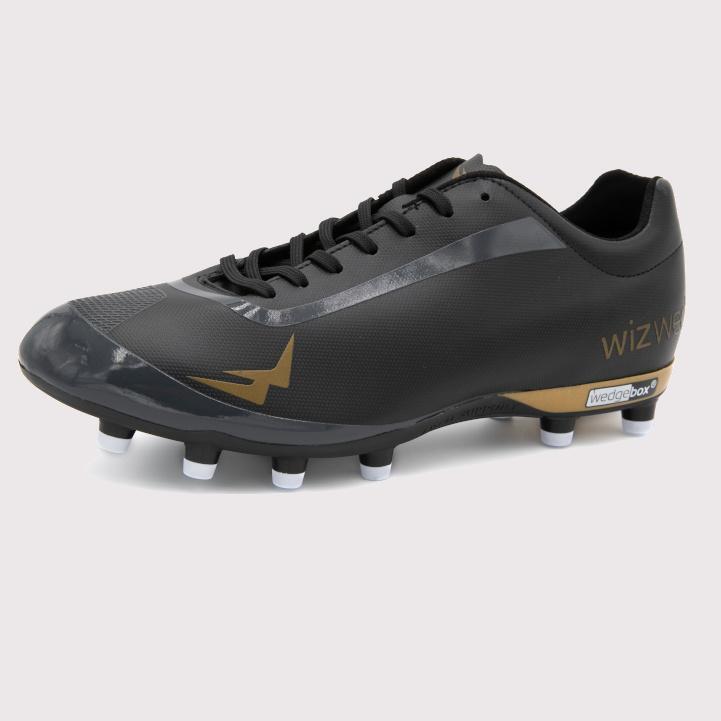 Chaussures de football enfant terrain sec Wave noire
