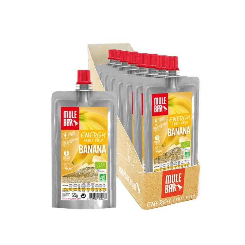 Boite de 10 Pulpes de fruits - Bio & Véganes - 65g - Banane