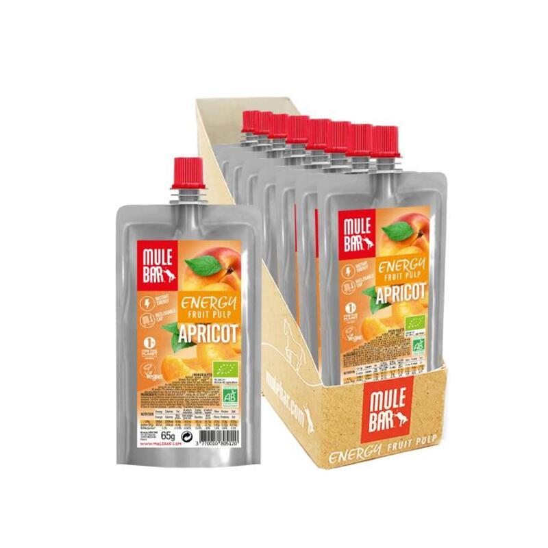 Boite de 10 Pulpes de fruits - Bio & Véganes - 65g - Abricot