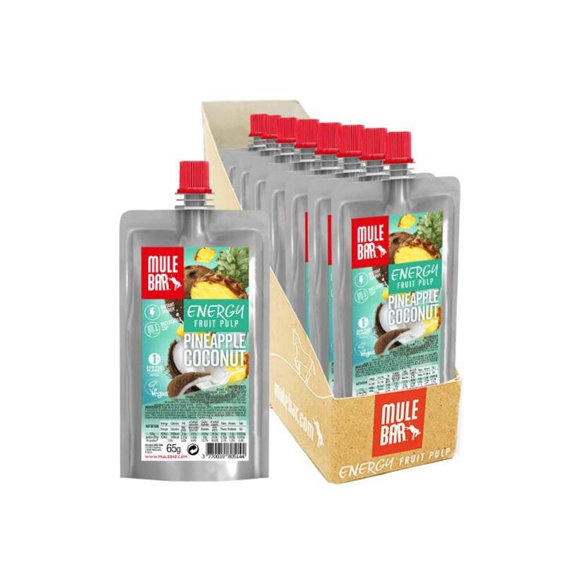 Boite de 10 Pulpes de fruits - Bio & Véganes - 65g - Ananas / Coco