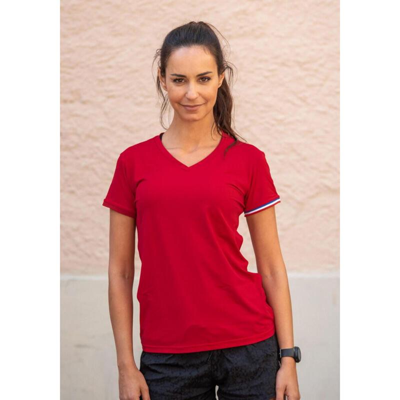 T-shirt Le classique Rouge Femme