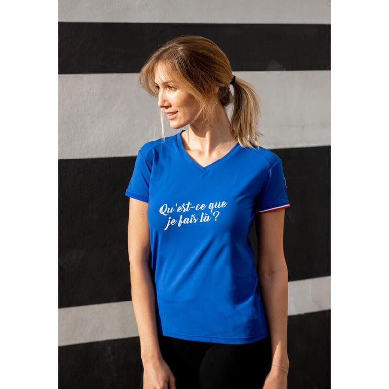 T-shirt La perplexe Bleu Femme