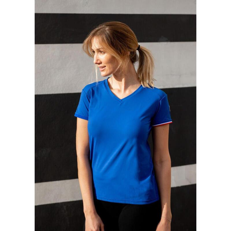 T-shirt Le classique Bleu Femme