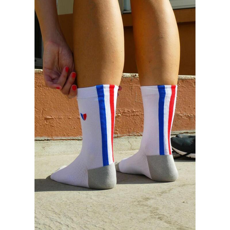 Chaussettes Les tricolores Blanches