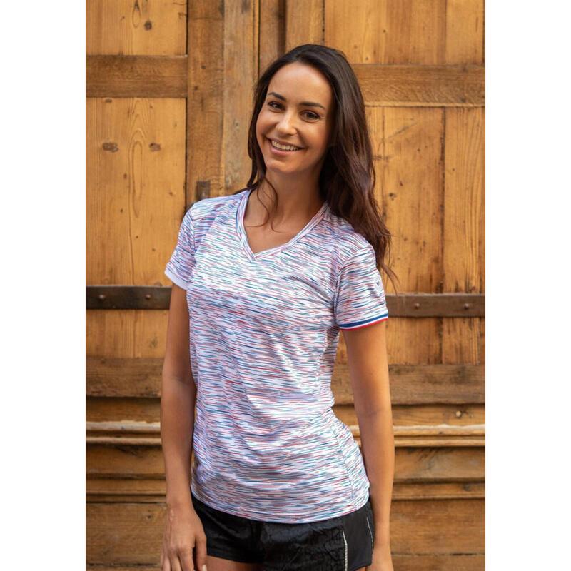 T-shirt Le Strié Tricolore Femme