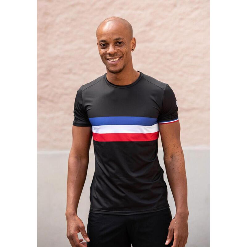 T-shirt Le champion de France Noir Femme