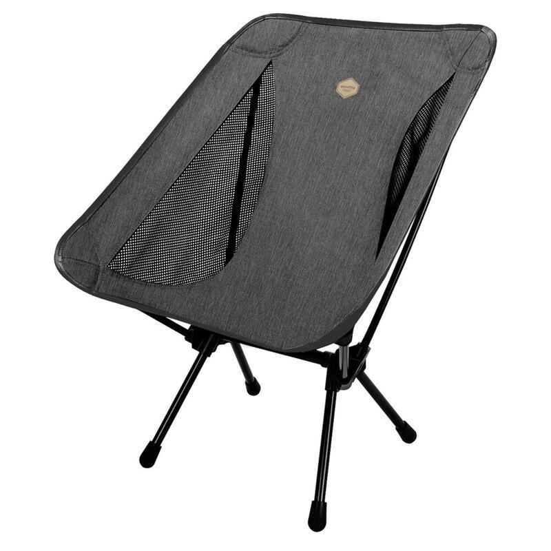韓國戶外鋁摺椅(可承重200公斤)Lasse Chair Plus Dark Grey