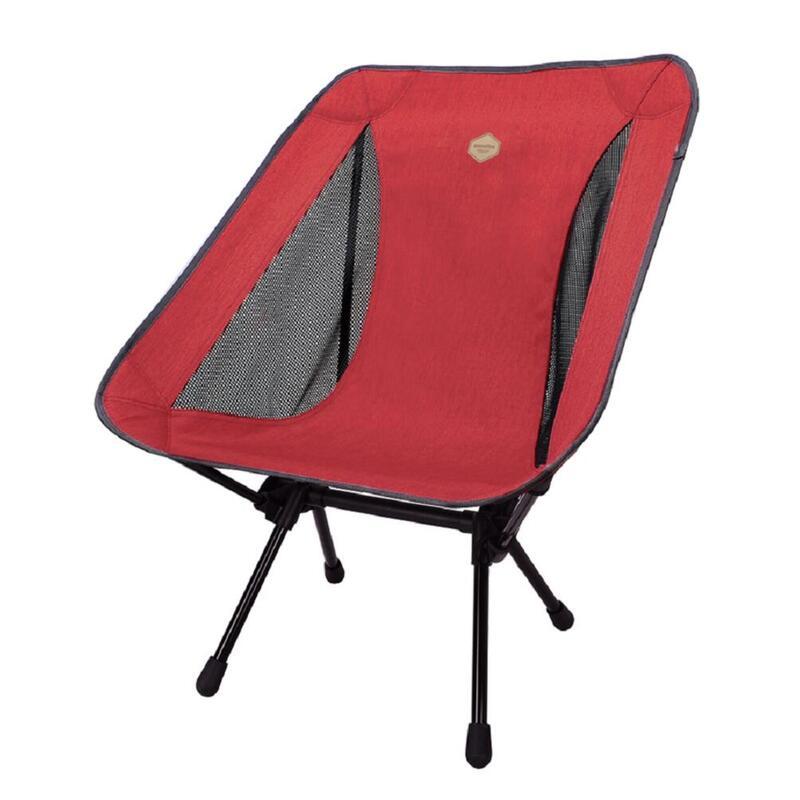 韓國戶外鋁摺椅(可承重200公斤)Lasse Chair Plus Red