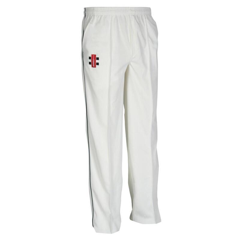 Children/Kids Matrix Cricket Trousers (Ivory/ Navy)