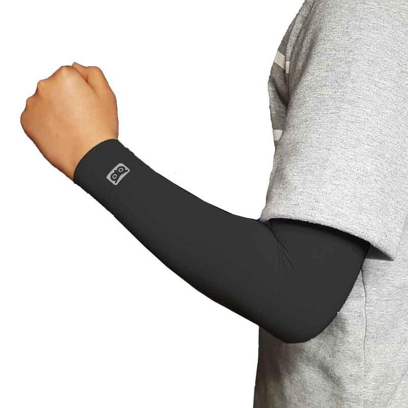 韓國製童裝壓力防曬手袖 黑色