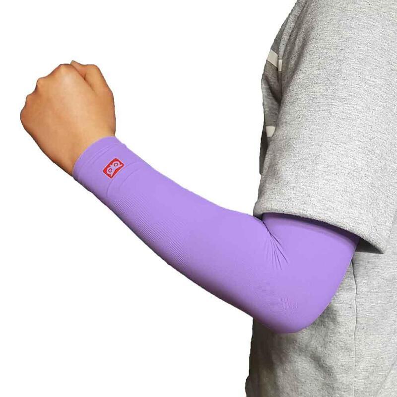 韓國製童裝壓力防曬手袖 紫色