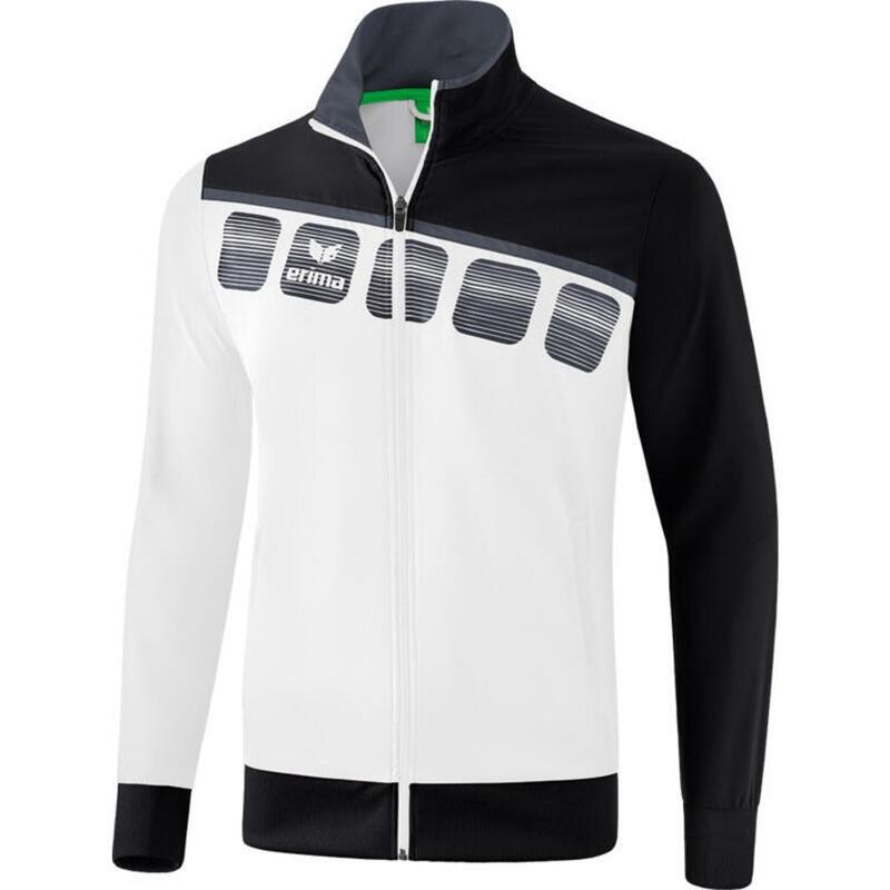 Erima veste de présentation 5-C hommes polyester blanc/noir taille L