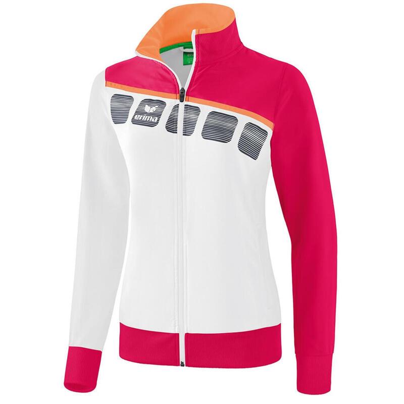 Erima veste de présentation 5-C dames polyester blanc/rose taille 34
