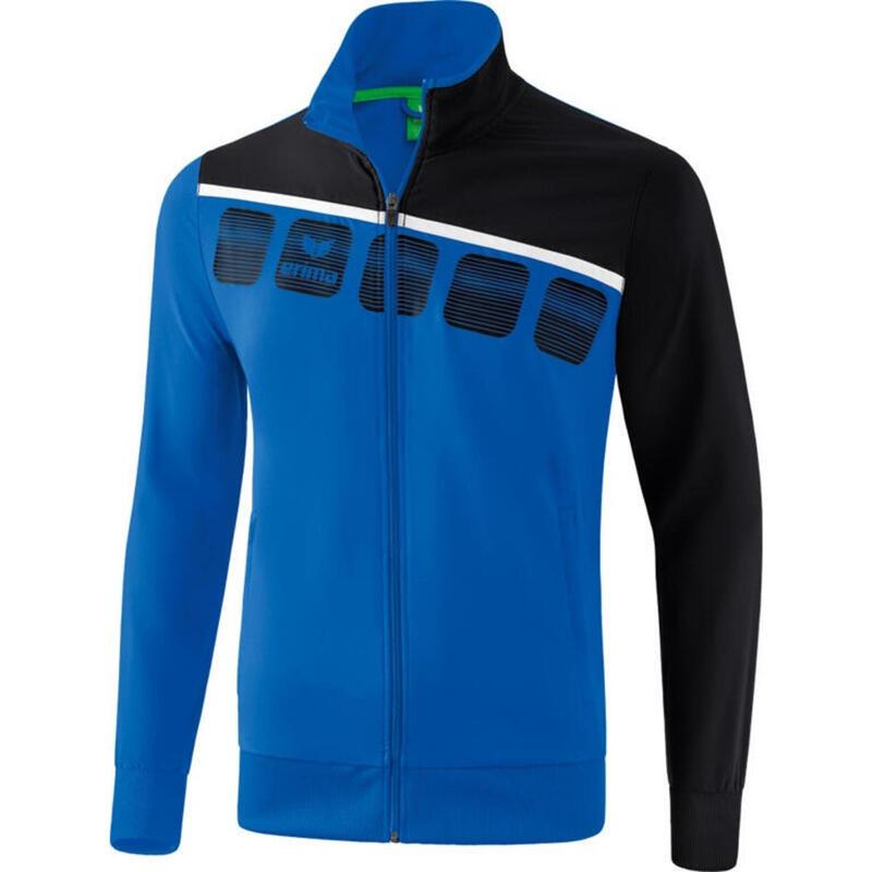 Erima veste de présentation 5-C homme polyester bleu/noir taille XXL