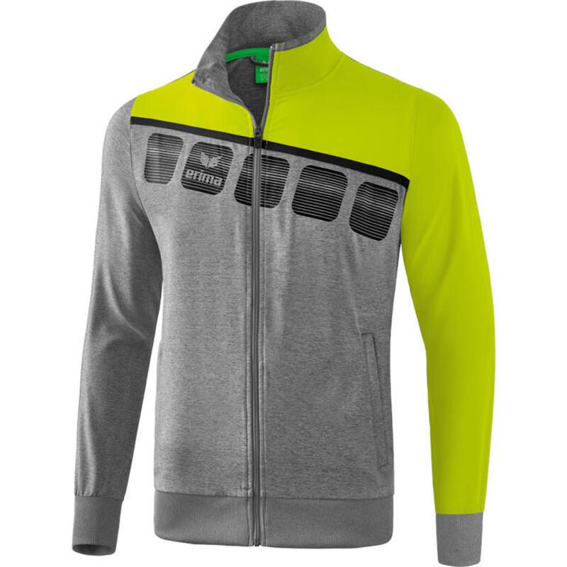 Erima veste de présentation 5-C mens polyester lime/grey taille XXXL