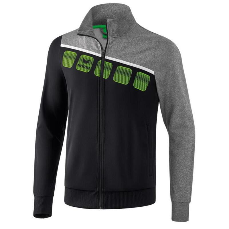 Erima veste d'entraînement 5-C polyester gris/noir taille XL