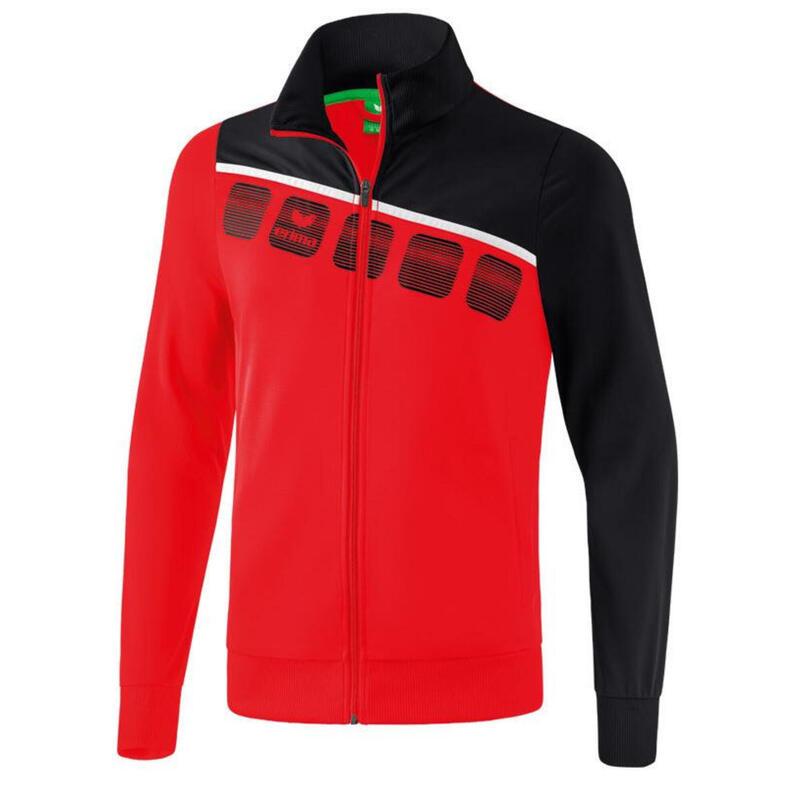 Erima veste d'entraînement 5-C polyester rouge/noir taille 3XL