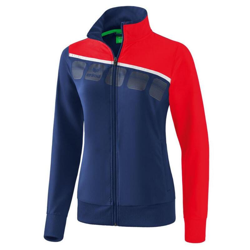 Erima veste de présentation 5-C dames polyester marine/rouge taille 38