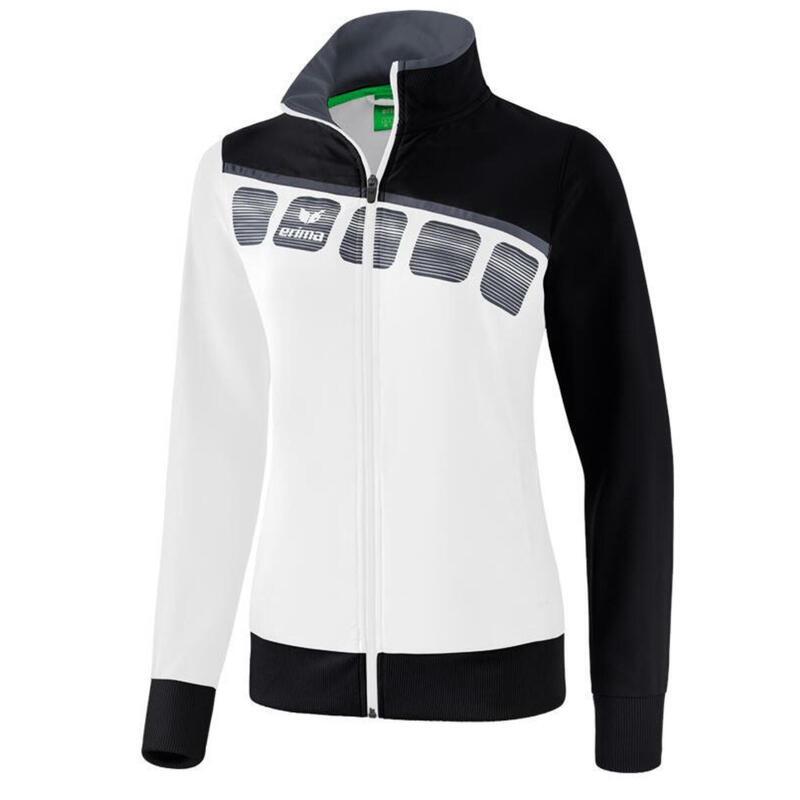 Erima veste de présentation 5-C dames polyester blanc/noir taille 34