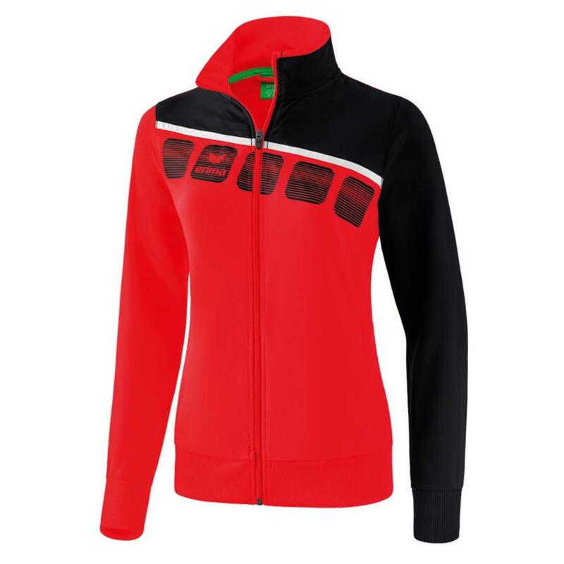 Erima veste de présentation 5-C dames polyester rouge/noir taille 34