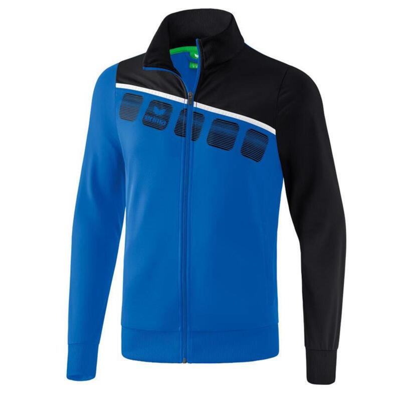 Erima veste d'entraînement 5-C polyester bleu/noir taille XXL