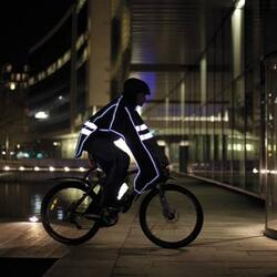 Poncho impermeabile da bicicletta con bande riflettenti Rfx Care raincover